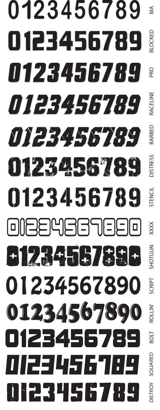 Number Font Styles Incite Logos Font StylesNumber Font Styles